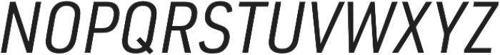 URW DIN SemiCond Regular Italic otf (400) Font UPPERCASE