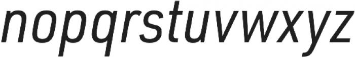 URW DIN SemiCond Regular Italic otf (400) Font LOWERCASE