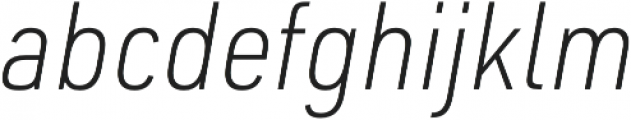 URW DIN SemiCond XLight Italic otf (300) Font LOWERCASE