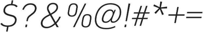 URW DIN XLight Italic otf (300) Font OTHER CHARS