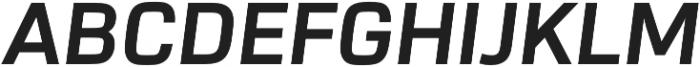 URW Dock Bold Italic otf (700) Font UPPERCASE