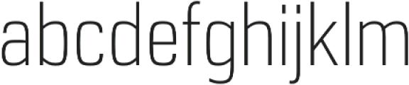 URW Dock Cond Extra Light otf (200) Font LOWERCASE