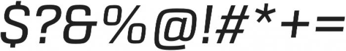 URW Dock Medium Italic otf (500) Font OTHER CHARS