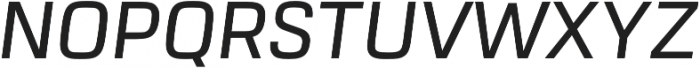 URW Dock Medium Italic otf (500) Font UPPERCASE