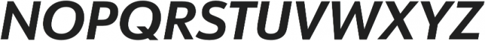 URW Form Bold Italic otf (700) Font UPPERCASE