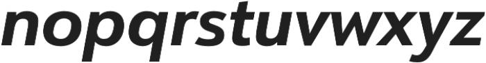 URW Form Bold Italic otf (700) Font LOWERCASE