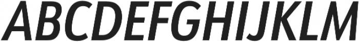 URW Form Cond Demi Italic otf (400) Font UPPERCASE