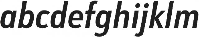 URW Form Cond Demi Italic otf (400) Font LOWERCASE