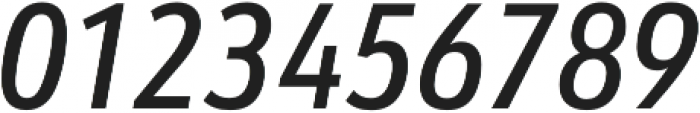 URW Form Cond Medium Italic otf (500) Font OTHER CHARS
