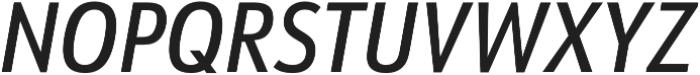 URW Form Cond Medium Italic otf (500) Font UPPERCASE