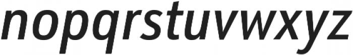 URW Form Cond Medium Italic otf (500) Font LOWERCASE
