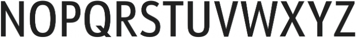 URW Form Cond Medium otf (500) Font UPPERCASE