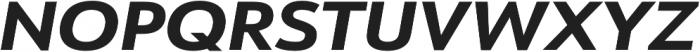 URW Form Expand Extra Bold Italic otf (700) Font UPPERCASE