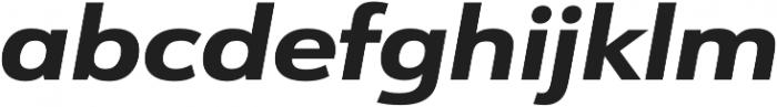 URW Form Expand Extra Bold Italic otf (700) Font LOWERCASE