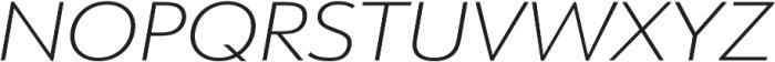 URW Form Expand Extra Light Italic otf (200) Font UPPERCASE
