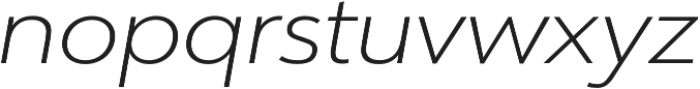 URW Form Expand Extra Light Italic otf (200) Font LOWERCASE