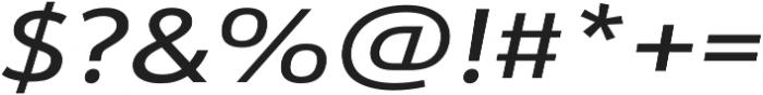 URW Form Expand Medium Italic otf (500) Font OTHER CHARS