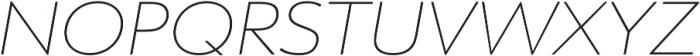 URW Form Expand Thin Italic otf (100) Font UPPERCASE