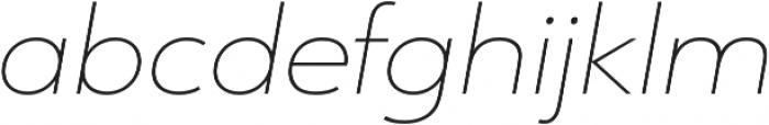 URW Form Expand Thin Italic otf (100) Font LOWERCASE