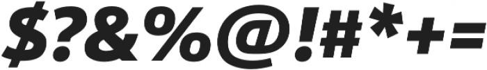 URW Form Heavy Italic otf (800) Font OTHER CHARS