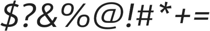 URW Form Italic otf (400) Font OTHER CHARS