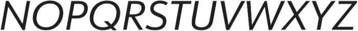 URW Form Italic otf (400) Font UPPERCASE