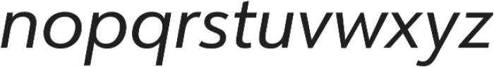 URW Form Italic otf (400) Font LOWERCASE