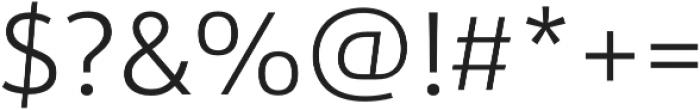 URW Form Light otf (300) Font OTHER CHARS