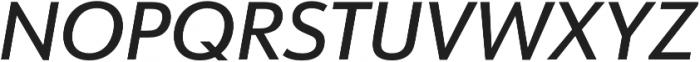 URW Form Medium Italic otf (500) Font UPPERCASE