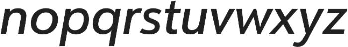 URW Form Medium Italic otf (500) Font LOWERCASE