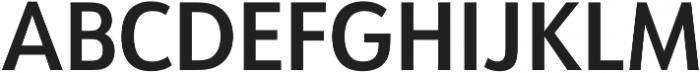 URW Form SemiCond Demi otf (400) Font UPPERCASE