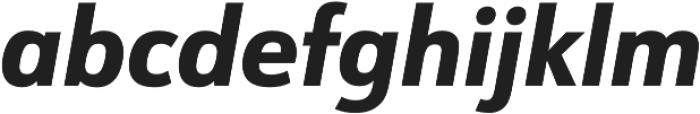URW Form SemiCond Extra Bold Italic otf (700) Font LOWERCASE