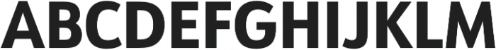 URW Form SemiCond Extra Bold otf (700) Font UPPERCASE