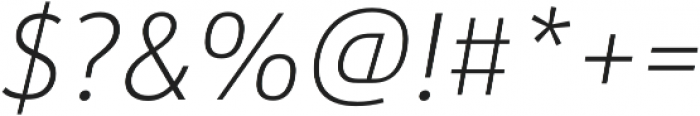 URW Form SemiCond Extra Light Italic otf (200) Font OTHER CHARS