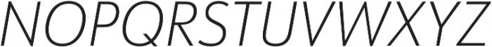 URW Form SemiCond Extra Light Italic otf (200) Font UPPERCASE
