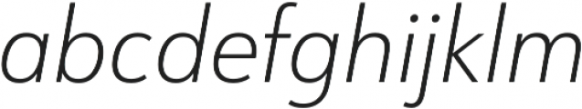 URW Form SemiCond Extra Light Italic otf (200) Font LOWERCASE