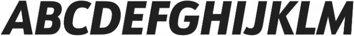 URW Form SemiCond Heavy Italic otf (800) Font UPPERCASE