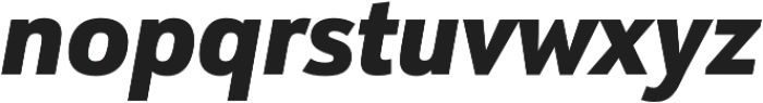 URW Form SemiCond Heavy Italic otf (800) Font LOWERCASE