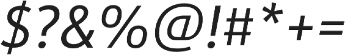 URW Form SemiCond Italic otf (400) Font OTHER CHARS