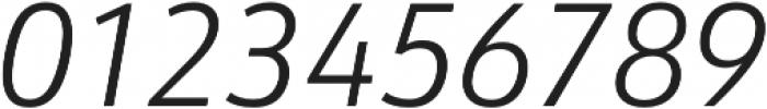URW Form SemiCond Light Italic otf (300) Font OTHER CHARS