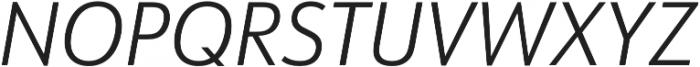 URW Form SemiCond Light Italic otf (300) Font UPPERCASE