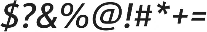 URW Form SemiCond Medium Italic otf (500) Font OTHER CHARS