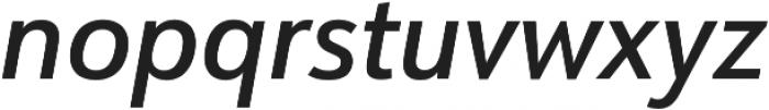 URW Form SemiCond Medium Italic otf (500) Font LOWERCASE