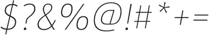 URW Form SemiCond Thin Italic otf (100) Font OTHER CHARS