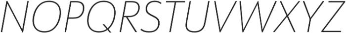URW Form SemiCond Thin Italic otf (100) Font UPPERCASE