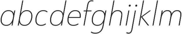 URW Form SemiCond Thin Italic otf (100) Font LOWERCASE