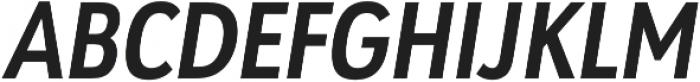 URW Geometric Cond Bold Oblique otf (700) Font UPPERCASE