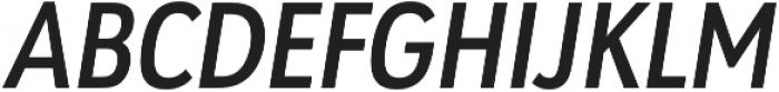 URW Geometric Cond Semi Bold Oblique otf (600) Font UPPERCASE