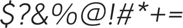 URW Geometric Light Oblique otf (300) Font OTHER CHARS