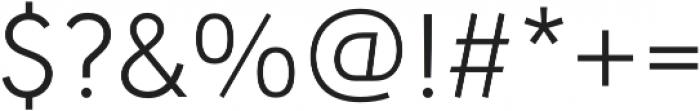URW Geometric Light otf (300) Font OTHER CHARS